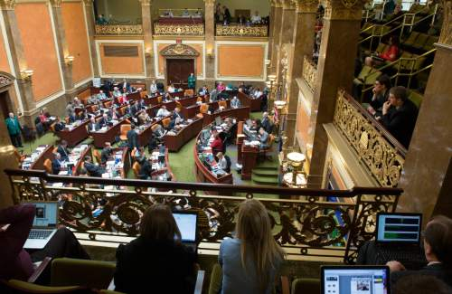Rick Egan  | Tribune file photo  A view of the Utah House of Representatives from the gallery during a recent legislative session.