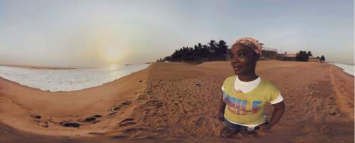 "Decontee Davis, a survivor of Ebola in Liberia, is profiled in the 360-degree documentary ""Waves of Grace,"" one of the virtual-reality works to be shown in the New Frontier program of the 2016 Sundance Film Festival. Imraan Ismail  