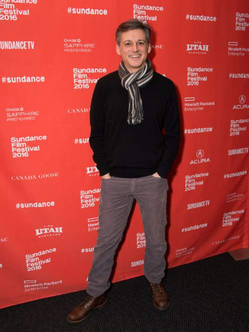 """Director Louis Pepe poses at the premiere of """"The Bad Kids"""" during the 2016 Sundance Film Festival on Friday, Jan. 22, 2016, in Park City, Utah. (Photo by Arthur Mola/Invision/AP)"""