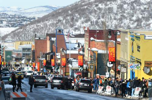 Steve Griffin  |  The Salt Lake Tribune   Sundance Film Festival patrons start to fill Main Street during the first weekend of the Sundance Film Festival in Park City on Friday, Jan. 22, 2016.