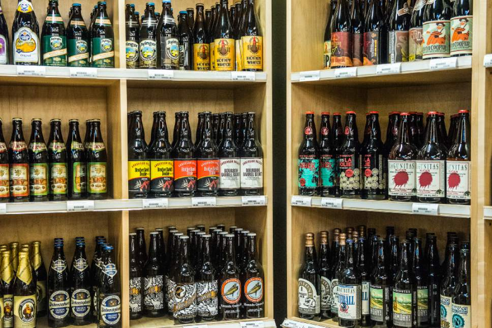 Chris Detrick  |  The Salt Lake Tribune High alcohol beer sold at a state liquor store.