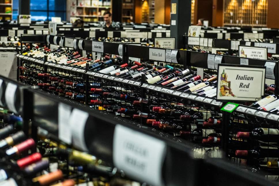 Chris Detrick  |  The Salt Lake Tribune Wine for sale at the Utah Wine Store, 280 Harris Ave S, Salt Lake City, Friday January 22, 2016.
