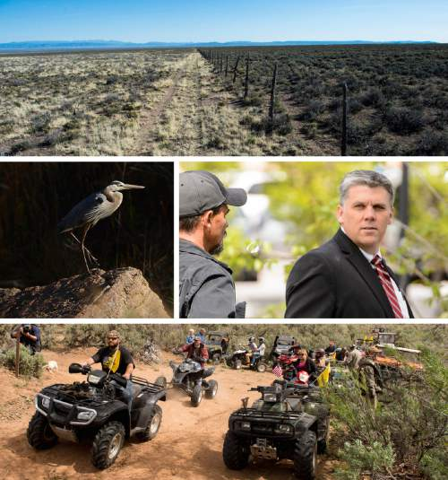 Tribune File Photos  New poll numbers show Utahns split on public land transfers and Phil Lyman's 10-day jail sentence.