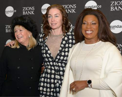 "Leah Hogsten  |  The Salt Lake Tribune l-r Diane Ladd, Julianne Nicholson and Lorraine Toussaint arrive for the premiere screening of ""Sophie and the Rising Sun"" during the Sundance Film Festival at Rose Wagner Theatre in Salt Lake City, January 22, 2016."