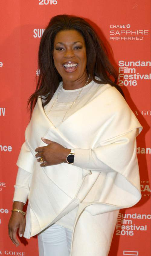 "Leah Hogsten  |  The Salt Lake Tribune Lorraine Toussaint arrives for the premiere screening of ""Sophie and the Rising Sun"" during the Sundance Film Festival at Rose Wagner Theatre in Salt Lake City, January 22, 2016."