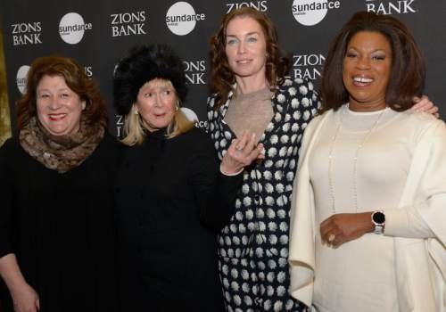 "Leah Hogsten  |  The Salt Lake Tribune l-r Margo Martindale, Diane Ladd, Julianne Nicholson and Lorraine Toussaint arrive for the premiere screening of ""Sophie and the Rising Sun"" during the Sundance Film Festival at Rose Wagner Theatre in Salt Lake City, January 22, 2016."
