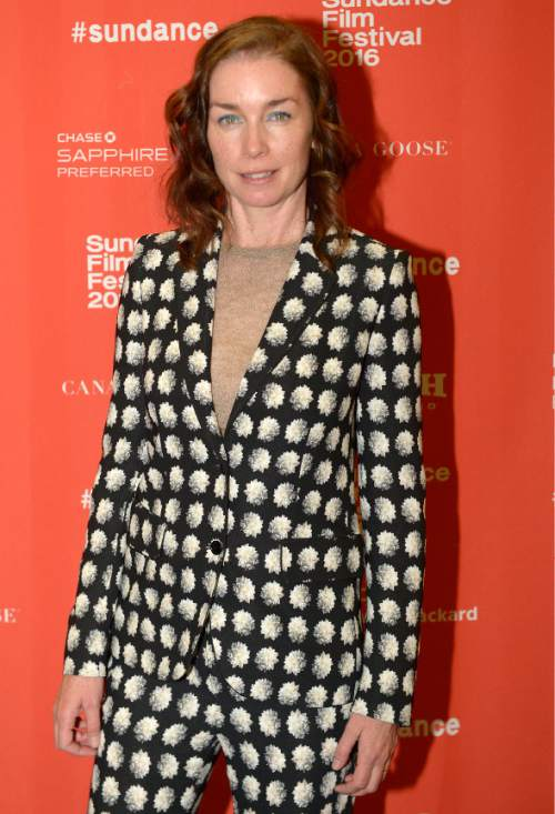 "Leah Hogsten  |  The Salt Lake Tribune Julianne Nicholson arrives for the premiere screening of ""Sophie and the Rising Sun"" during the Sundance Film Festival at Rose Wagner Theatre in Salt Lake City, January 22, 2016."