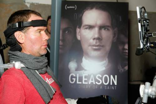 """Steve Gleason at """"Gleason"""" premiere party at Chase Sapphire on Main during the 2016 Sundance Film Festival in Park City, Utah, Jan. 23, 2016. (Photo by Jack Dempsey/Invision for Chase Sapphire Preferred/AP Images)"""
