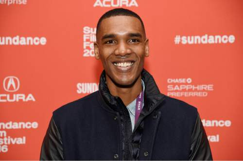 "Parker Sawyers, who plays a young Barack Obama in ""Southside With You,"" poses at the premiere of the film at the 2016 Sundance Film Festival on Sunday, Jan. 24, 2016, in Park City, Utah. (Photo by Chris Pizzello/Invision/AP)"