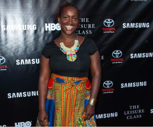"""FILE - In this Aug. 10, 2015 file photo, Effie Brown attends The Project Greenlight Season 4 premiere of """"The Leisure Class"""" at The Theatre At The Ace Hotel in Los Angeles. Women and people of color have been complicit, at some level, in taking a back seat in Hollywood. That's what film and television producer Brown told a rapt audience Monday, Jan. 25, 2016, at annual Women at Sundance brunch, saying, """"Somehow, we co-signed this. Somehow, we participated."""" (Photo by Paul A. Hebert/Invision/AP, File)"""