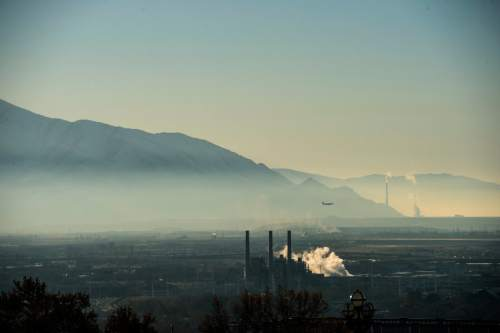 Chris Detrick  |  The Salt Lake Tribune An inversion over the Salt Lake Valley on Tuesday, Dec. 1, 2015.