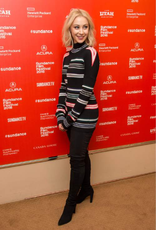 "Actress Sarah Gadon poses at the premiere of  ""11.22.63"" during the 2016 Sundance Film Festival on Thursday, Jan. 28, 2016, in Park City, Utah. (Photo by Arthur Mola/Invision/AP)"