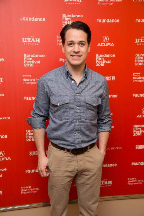 "Actor T.R. Knight poses at the premiere of ""11.22.63"" during the 2016 Sundance Film Festival on Thursday, Jan. 28, 2016, in Park City, Utah. (Photo by Arthur Mola/Invision/AP)"