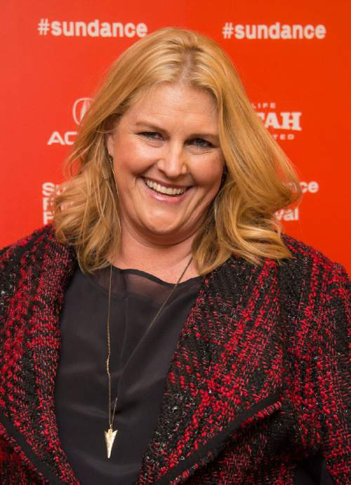 "Executive producer/writer Bridget Carpenter poses at the premiere of ""11.22.63"" during the 2016 Sundance Film Festival on Thursday, Jan. 28, 2016, in Park City, Utah. (Photo by Arthur Mola/Invision/AP)"
