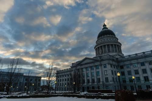 Francisco Kjolseth | The Salt Lake Tribune The sun rises on the start of the 2016 Legislative session on Monday, Jan. 25, 2016.