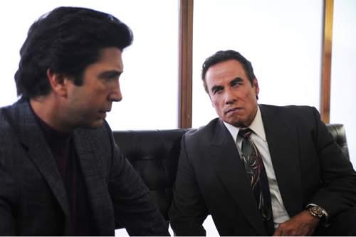 David Schwimmer as Robert Kardashian, John Travolta as Robert Shapiro in ìThe People V. O.J. Simpson: American Crime Story.î Ray Mickshaw     FX