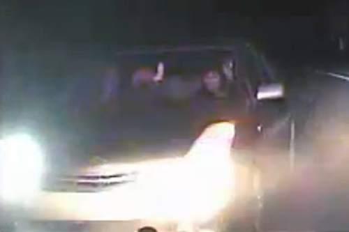 Courtesy  |  Utah Highway Patrol video  The Utah Highway Patrol says Susan Hunt struck a patrol vehicle on Tuesday, Jan. 26, 2016 in Tooele County.
