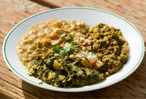 Rick Egan  |  The Salt Lake Tribune  The Himalayan veggie entrée at theRoundhouse restaurant at Solitude Mountain Resort.
