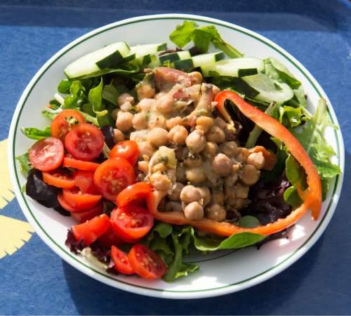 Rick Egan  |  The Salt Lake Tribune  The Himalayan chana chaat salad at the Roundhouse restaurant at Solitude Mountain Resort.