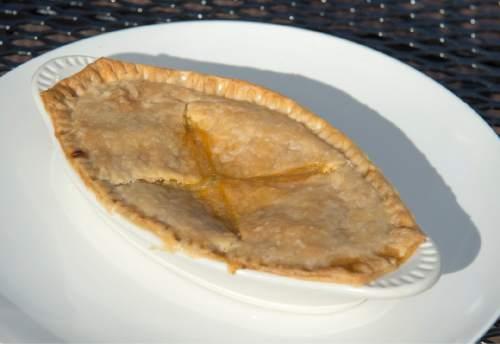 Rick Egan  |  The Salt Lake Tribune  The chicken pot pie at the Roundhouse restaurant at Solitude Mountain Resort.