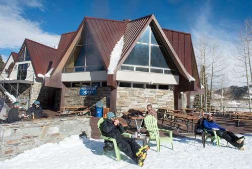 Rick Egan  |  The Salt Lake Tribune  The Roundhouse restaurant  at Solitude Mountain Resort.