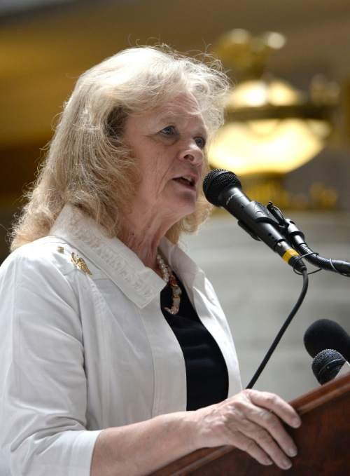 Al Hartmann      Tribune file photo Gayle Ruzicka with the Eagle Forum opposes comprehensive sex-ed in Utah schools. She believes the abstinence-only curriculum now taught works fine.