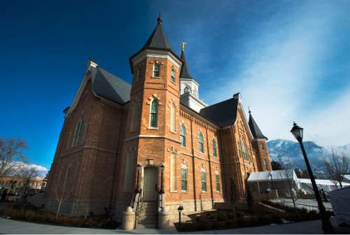 Steve Griffin  |  The Salt Lake Tribune   A media tour was given of the new Provo City Center Temple in Provo on Monday, January 11, 2016. The temple used to be the historic Provo Tabernacle, which was gutted by a fire in 2010.