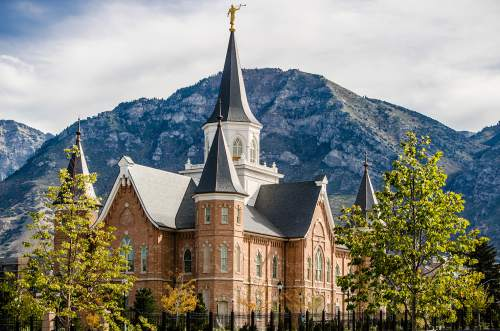 Courtesy The Church of Jesus Christ of Latter-day Saints  The Provo City Center Temple