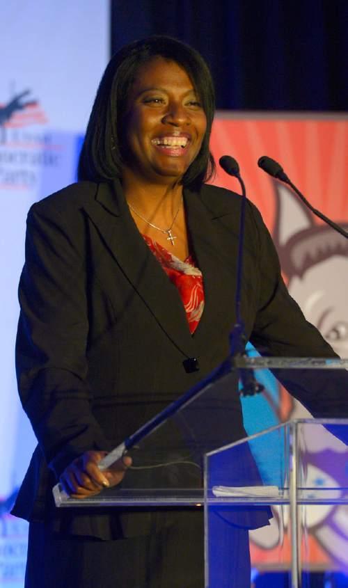 Leah Hogsten     The Salt Lake Tribune Sandra Hollins is the first black woman elected to theUtah Legislature.