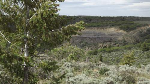 "David Self Newlin | The Salt Lake Tribune  The abandoned Bryson 4 mine near PR Springs campsite in eastern Utah. Utah Tar Sands Resistance which is camping at PR Springs in what they call a permanent ""protest vigil"" in an effort to stop development of tar sands in the area."