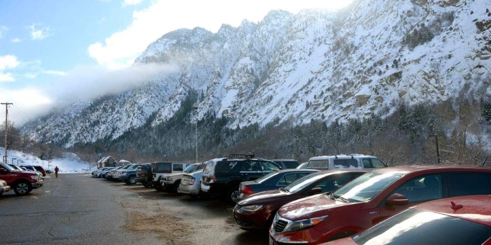 Al Hartmann  |  The Salt Lake Tribune Park and Ride lot at the mouth of Little Cottonwood Canyon was nearly full Friday Feb. 5 after an overnight storm dropped some snow at the resorts. Phase 2 of the Mountain Accord process is being launched.  It's emphasis will be to deal with existing traffic problems in the two Cottonwood canyons.