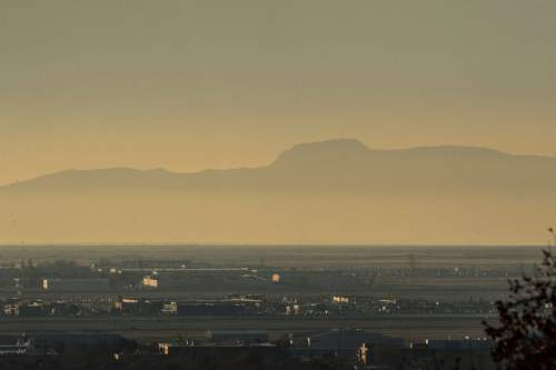 Chris Detrick     The Salt Lake Tribune A pollution inversion over the Salt Lake Valley Tuesday December 1, 2015.