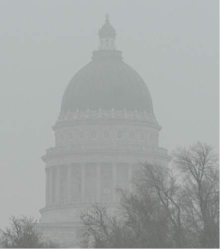 "Francisco Kjolseth | The Salt Lake Tribune Pool air quality blankets the valley, obscuring visibility and increasing health concerns. A sizable source of emissions, comes from ""warming up"" your car, a widespread practice in Utah.Last month Salt Lake City police found 600 unattended, idling vehicles in the space of three hours, even though it's completely unnecessary. For modern cars, all idling does is release a lot of emissions."