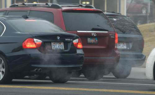 "Francisco Kjolseth | The Salt Lake Tribune A sizable source of emissions come from tailpipes, and idling and ""warming up"" your car is a widespread practice in Utah. Last month Salt Lake City police found 600 unattended, idling vehicles in the space of three hours, but it's completely unnecessary. For modern cars, all idling does is release a lot of emissions."