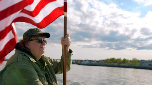 """Michael Moore goes abroad, looking for ideas America might steal, in his latest op-ed documentary, """"Where to Invade Next."""" Courtesy Eleven Foot Pole"""
