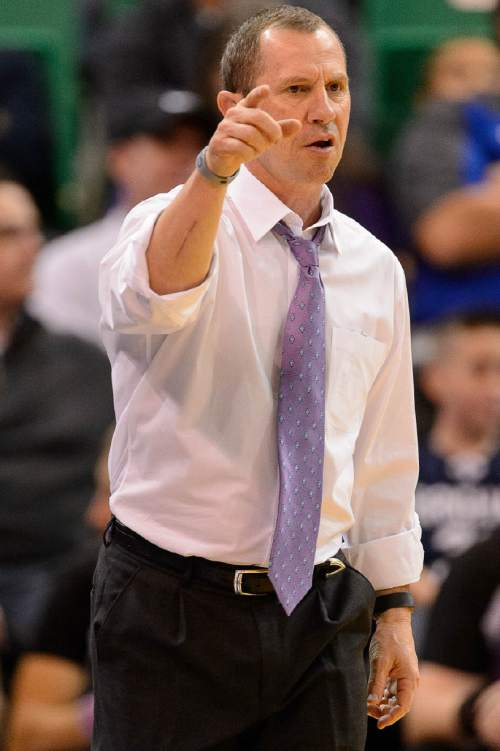 Trent Nelson  |  The Salt Lake Tribune Weber State coach Randy Rahe, as BYU faces Weber State, NCAA basketball at Vivant Smart Home Arena in Salt Lake City, Saturday December 5, 2015.
