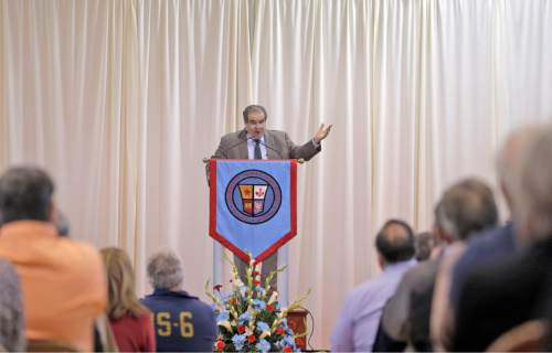 Supreme Court Justice Antonin Scalia speaks at Archbishop Rummel High School, Saturday, Jan. 2, 2016, in Metairie, La. (Brett Duke/NOLA.com The Times-Picayune via AP) MAGS OUT; NO SALES; USA TODAY OUT; THE BATON ROUGE ADVOCATE OUT; THE NEW ORLEANS ADVOCATE OUT; MANDATORY CREDIT