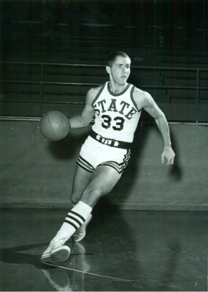 Courtesy  |  Utah State Athletics   Archived photos of Utah State basketball player Wayne Estes.