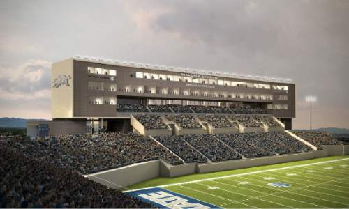 (Courtesy)  Rendering of Utah State's Maverik Stadium.