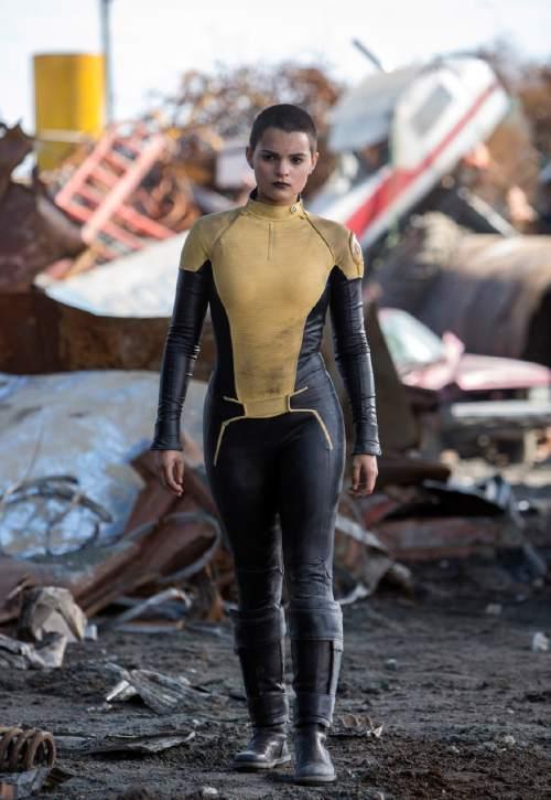 "This image released by Twentieth Century Fox shows Brianna Hildebrand in a scene from ""Deadpool."" (Joe Lederer/Twentieth Century Fox Film Corp. via AP)"