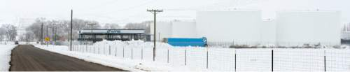 Steve Griffin     The Salt Lake Tribune   The Washakie Renewable Energy facility in Plymouth, Utah Friday, February 12, 2016.