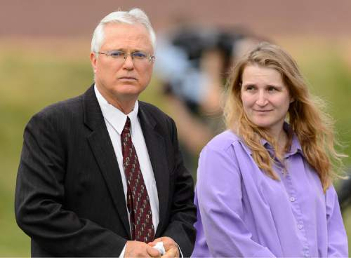 Trent Nelson     The Salt Lake Tribune Polygamist John Daniel Kingston, left, in attendance at a memorial for the 13 (and 1 still missing) victims of a September 14th flash flood. The memorial was held in Maxwell Park in Hildale, Saturday September 26, 2015.