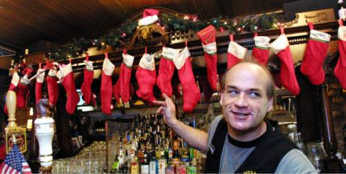 "|  Tribune File Photo  ""Mike the bartender"" proudly speaks about the dead goat skull hanging above the bar at the Dead Goat Saloon."
