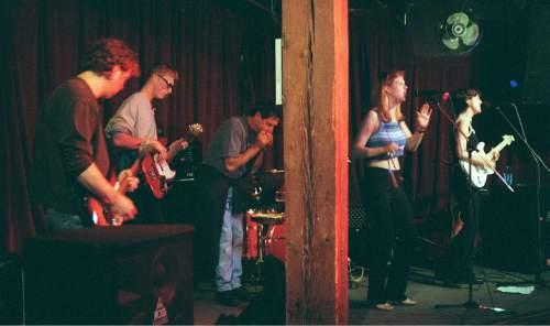Trent Nelson  |  The Salt Lake Tribune   Gigi Love at the Dead Goat Saloon.