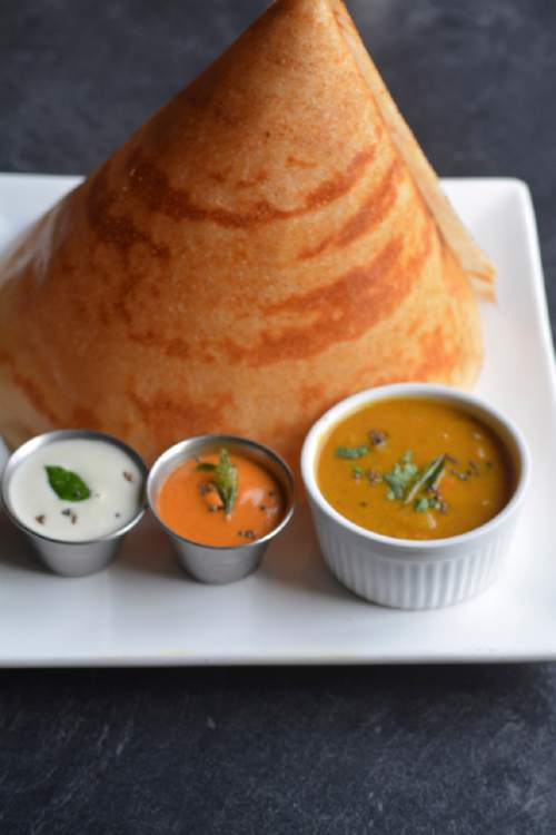 At Saffron Valley East India Cafe, lentils are soaked and then ground into a paste to make dishes like dosa and idly.  Source: Lavanya Mahate, Saffron Valley owner