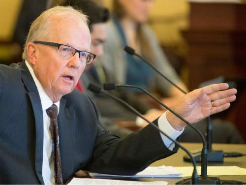Rick Egan     The Salt Lake Tribune  Rep. Mike Noel, R-Kanab, comments on his bill, HB281, in the House Law Enforcement and Criminal Justice Committee meeting, Friday, February 19, 2016.