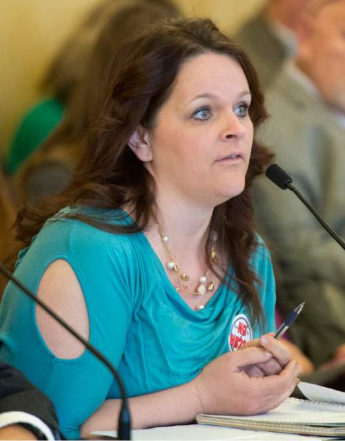Rick Egan     The Salt Lake Tribune  Polygamist, Heidi Foster, speaks before the House Law Enforcement and Criminal Justice Committee against HB281, which makes changes to Utah's bigamy statute. Friday, February 19, 2016.
