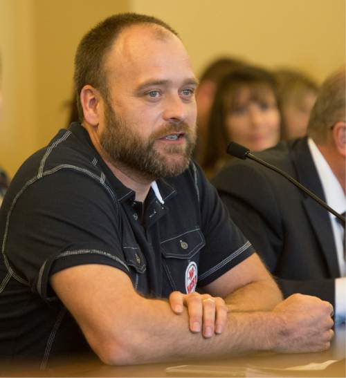 Rick Egan     The Salt Lake Tribune  Polygamist, Brady Williams, speaks before the House Law Enforcement and Criminal Justice Committee against HB281, which makes changes to Utah's bigamy statute. Friday, February 19, 2016.