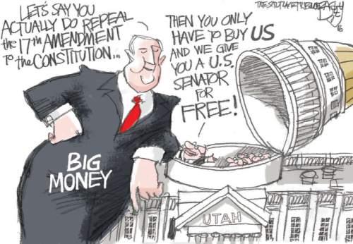 Bagley Cartoon 17th Amendment The Salt Lake Tribune