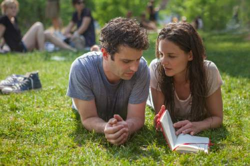 """Luke Kirby (left) and Katie Holmes play bipolar lovers in the romantic drama """"Touched With Fire."""" Joey Kuhn  